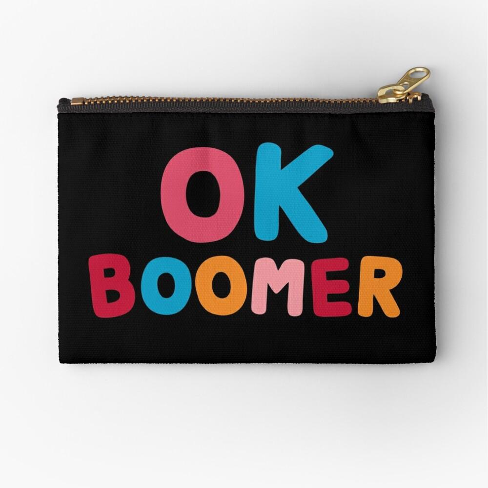 Ok boomer Zipper Pouch