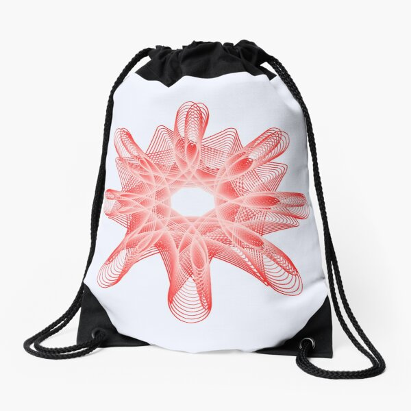 Spirals with Red and White Drawstring Bag