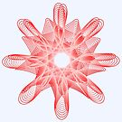 Spirals with Red and White by Shapes-Mania