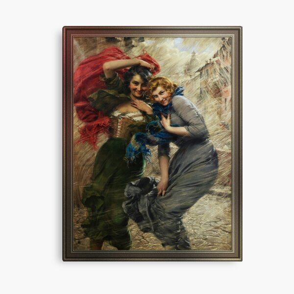 Rainy Day by Gaetano Bellei - Old Masters Reproductions Canvas Print