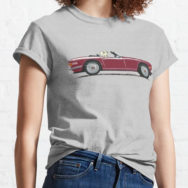 Damson Red color TR6 – the Classic British Sports Car Classic T-Shirt
