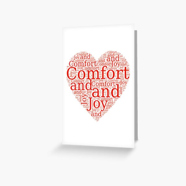 Christmas Gift - Comfort and Joy in Red and White - Holiday Decor - Clothing  Greeting Card