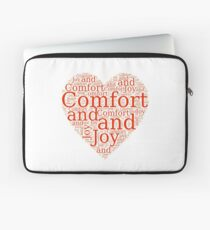Christmas Gift - Comfort and Joy in Red and White - Holiday Decor - Clothing  Laptop Sleeve
