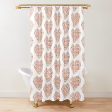 Christmas Gift - Comfort and Joy in Red and White - Holiday Decor - Clothing  Shower Curtain