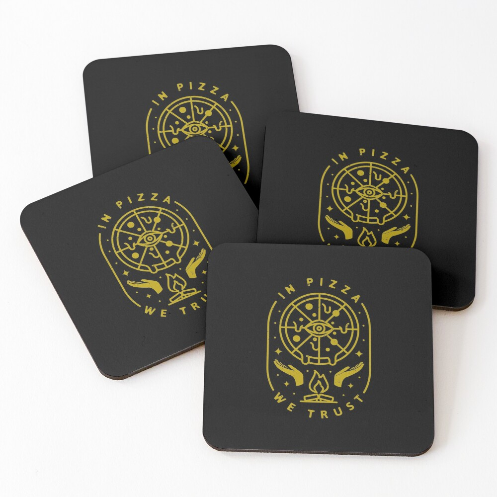 In Pizza We Trust Coasters (Set of 4)