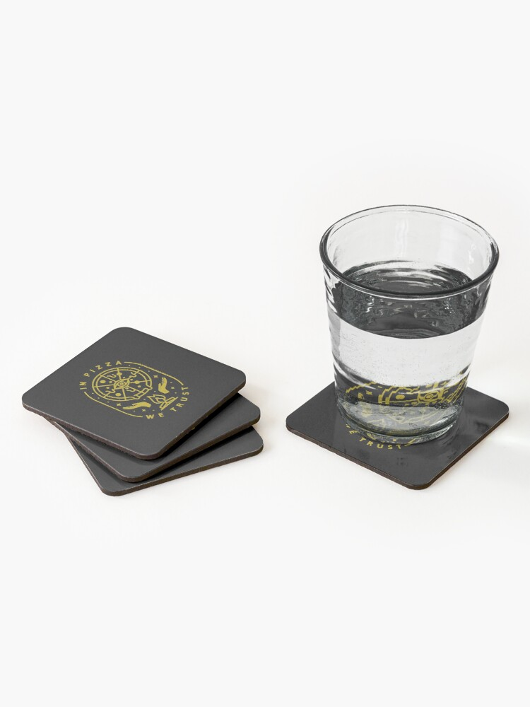 Alternate view of In Pizza We Trust Coasters (Set of 4)