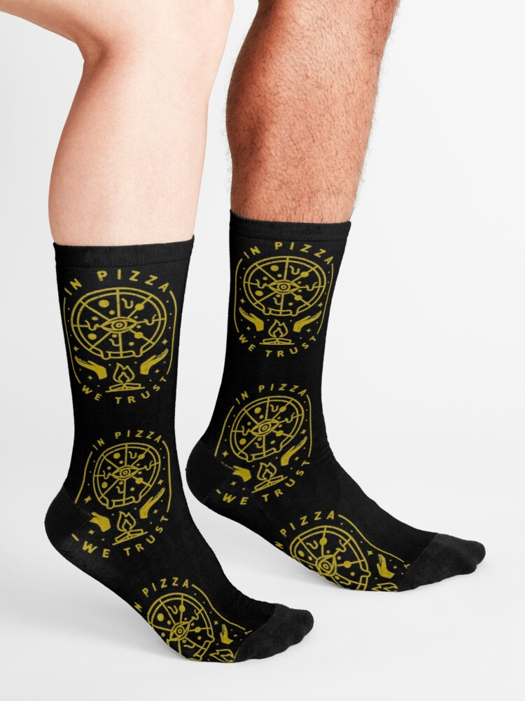 Alternate view of In Pizza We Trust Socks