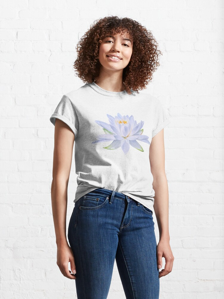 Alternate view of Ghost Waterlily - Single bloom pattern Classic T-Shirt
