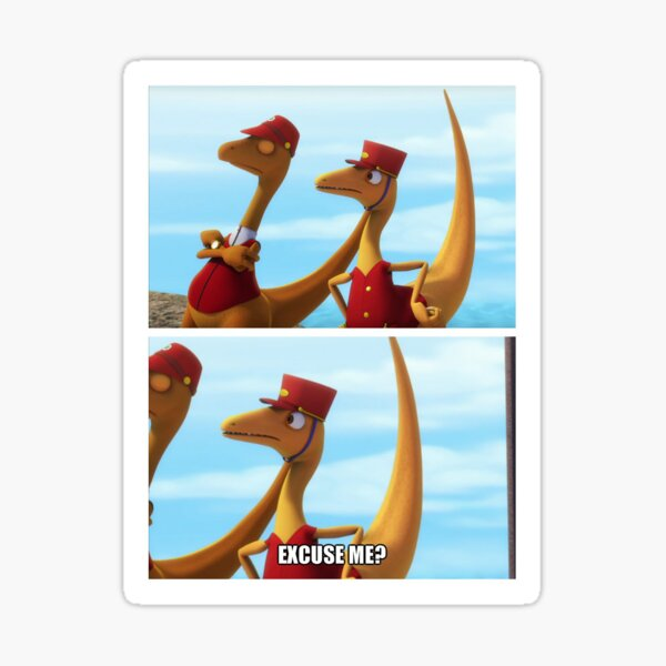 Dinosaur Train ExCuSe Me? Sticker