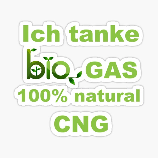 I feed biogas 100% natural CNG green Sticker