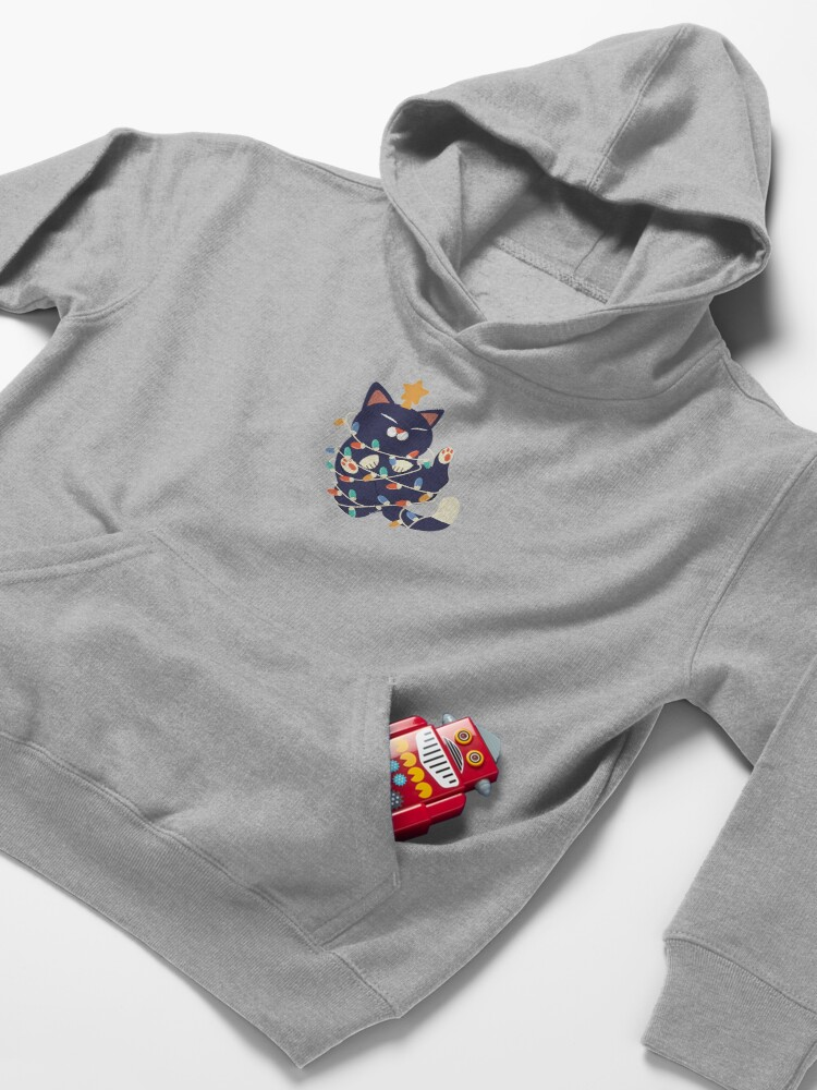 Alternate view of Christmas Kitty Kids Pullover Hoodie