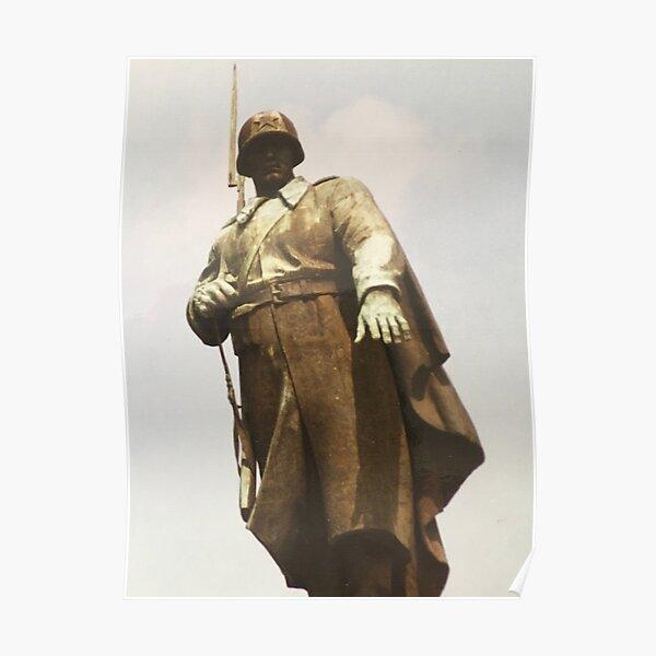 Soviet Soldier statue Poster