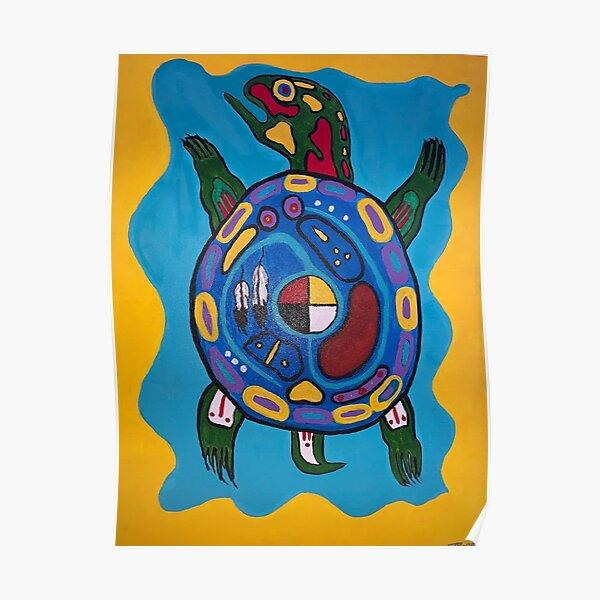 Anishinaabe turtle #2 Poster