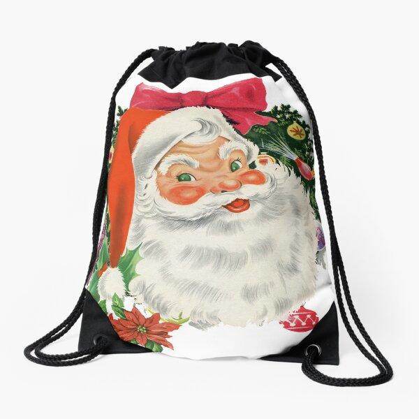 Merry Christmas Santa Drawstring Bag