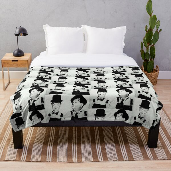 Laurel and Hardy Throw Blanket