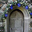 pretty doorway St Just in Roseland, Cornwall by BronReid
