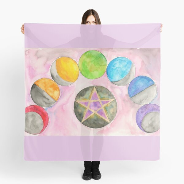 Rainbow Phases of the Moon Scarf