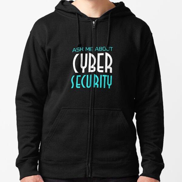 Pregúnteme acerca de Cyber Security Inteligencia artificial Ai Tech Machine Learning Sudadera con capucha y cremallera