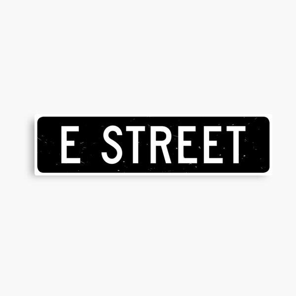 E Street, vintage street sign Canvas Print