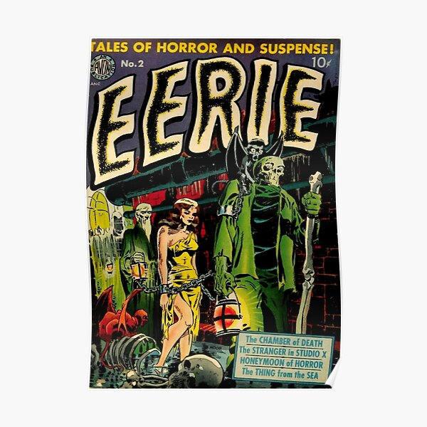 Vintage Horror Comic Book Cover Poster