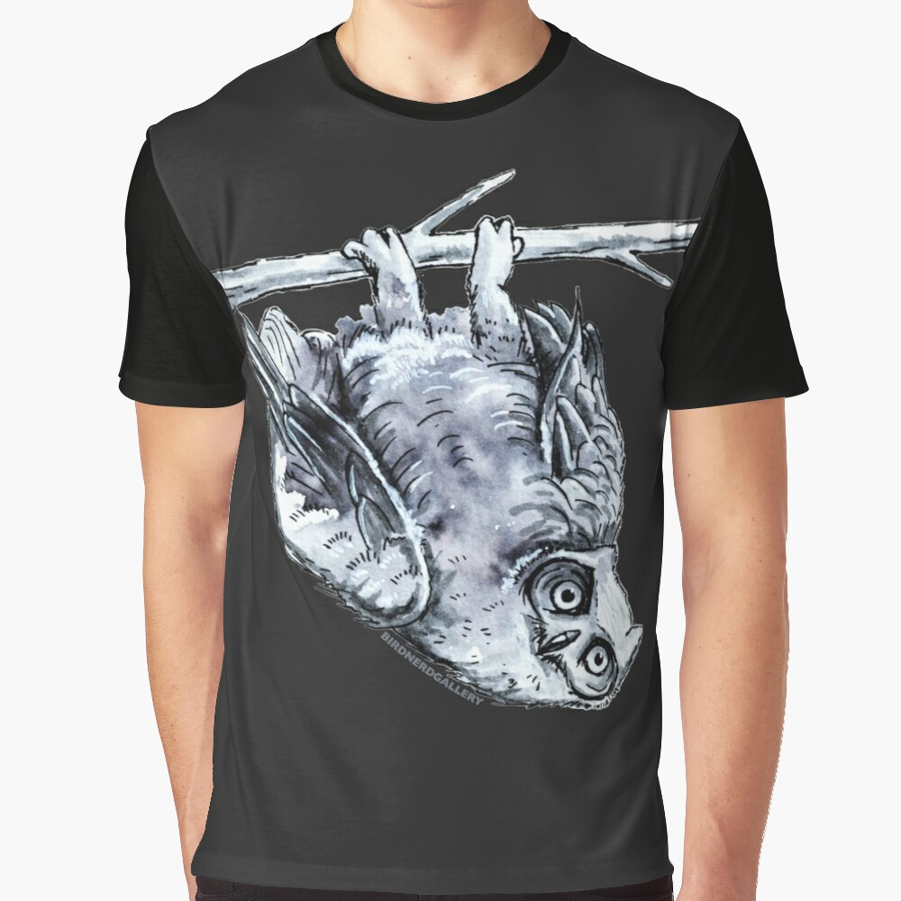 Great Horned Owl Drawing Graphic T-Shirt