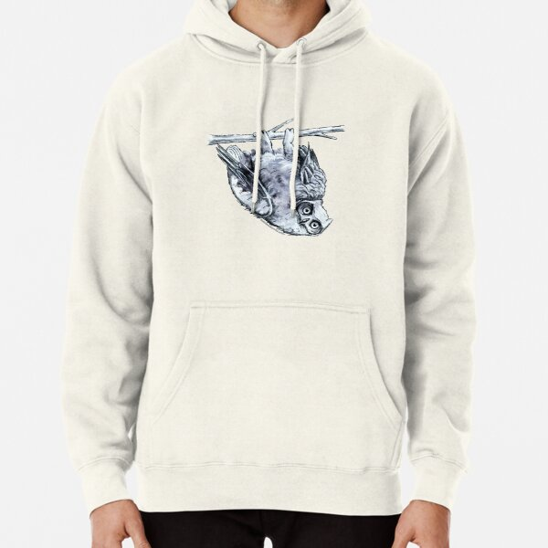 Great Horned Owl Drawing Pullover Hoodie