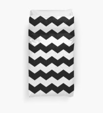 Black and White Large Scale Chevron Print Duvet Cover