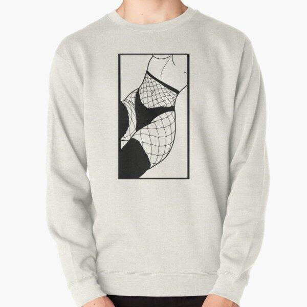 Ecchi Fishnets Pullover Sweatshirt