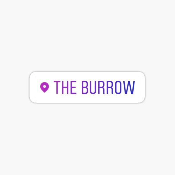 The Burrow Location Sticker Sticker