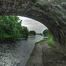 Lancaster Canal Towards Glasson Marina by John Hare