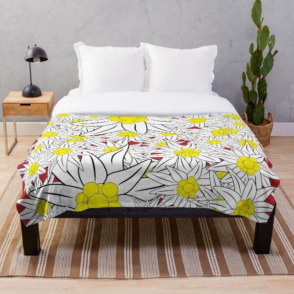 Edelweiss pattern Throw Blanket