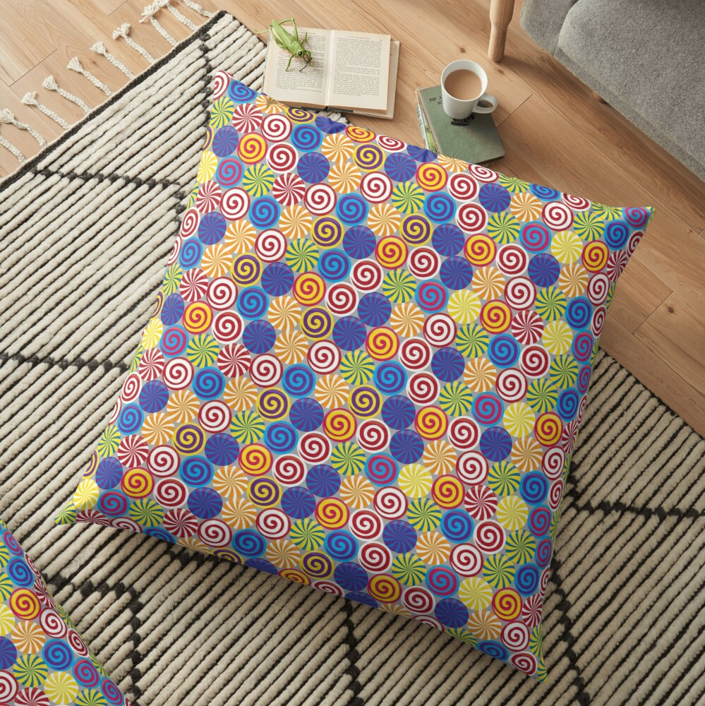 Hard Candies (Pattern) Floor Pillow