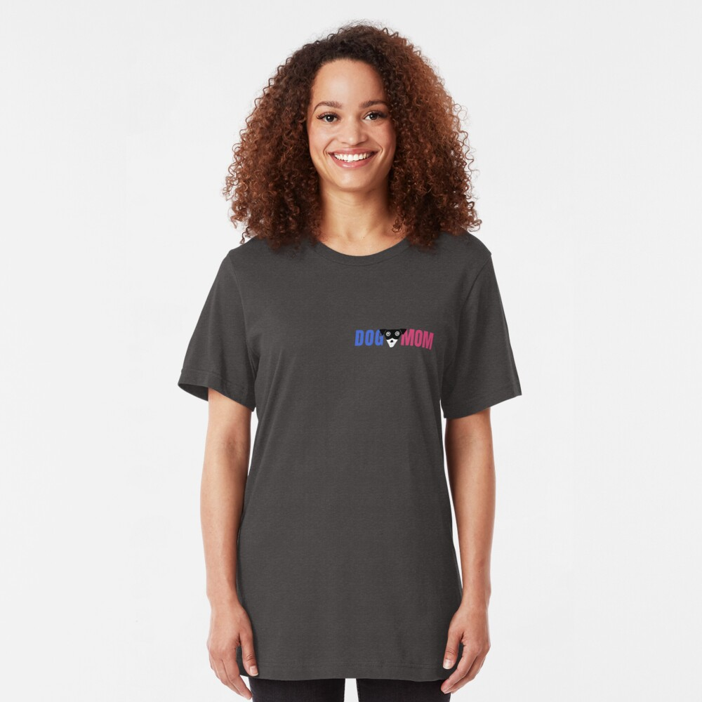 Dog Mom with Carl's Face Slim Fit T-Shirt