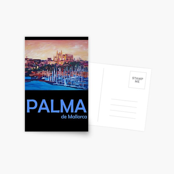 Palma de Mallorca Retro Travel Poster Postcard