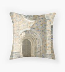 Front Façade - Bussière-Badil Church, France Throw Pillow