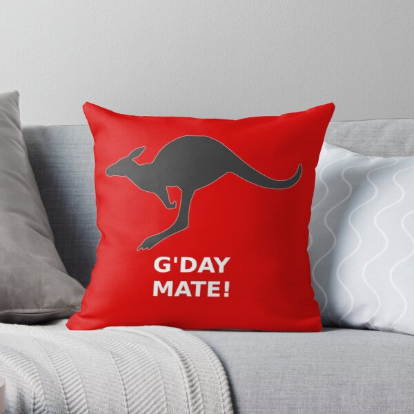 Kangaroo G'DAY MATE! Throw Pillow