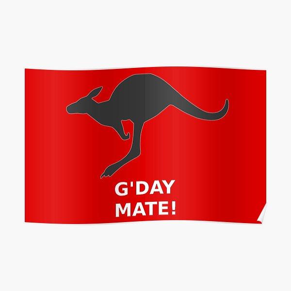 Kangaroo G'DAY MATE! Poster