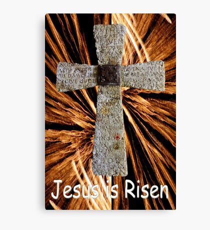 Lord's prayer cross with fireworks Canvas Print