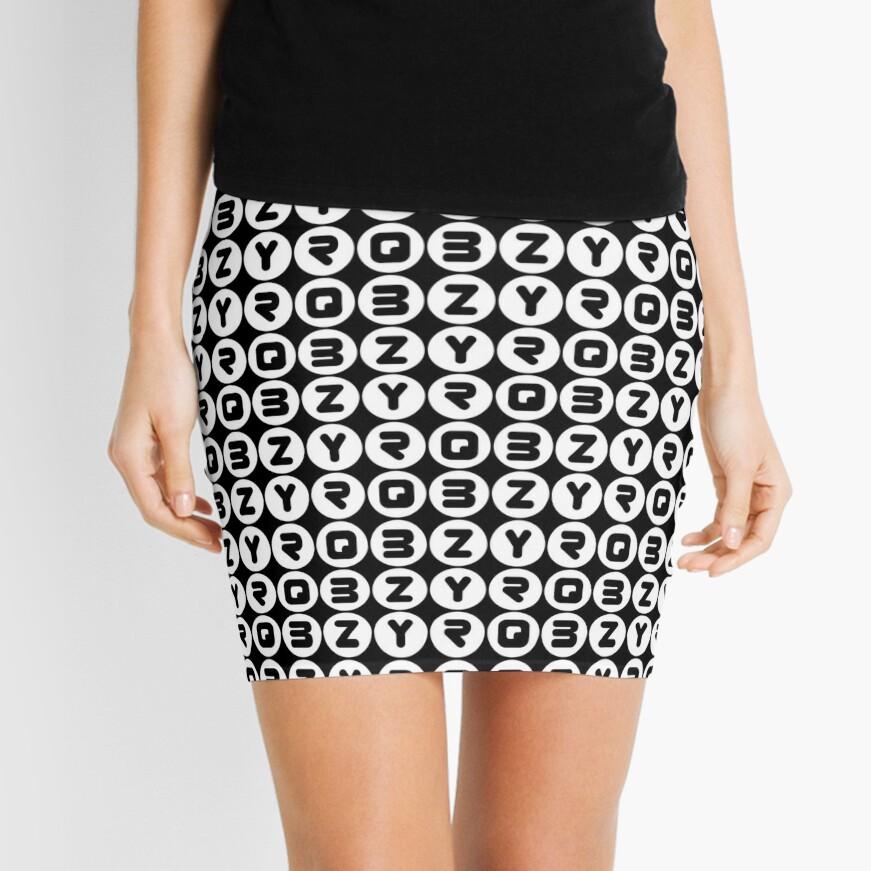 BZYRQ Polka Dot (White On Black) Mini Skirt