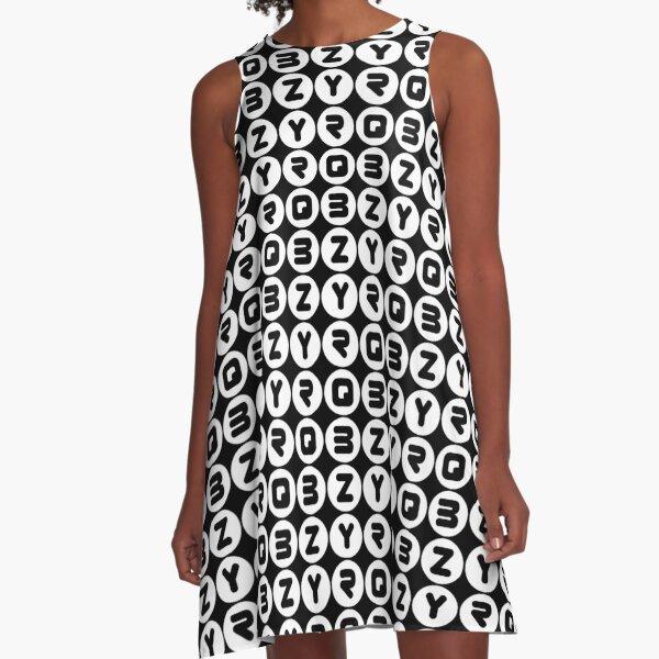 BZYRQ Polka Dot (White On Black) A-Line Dress