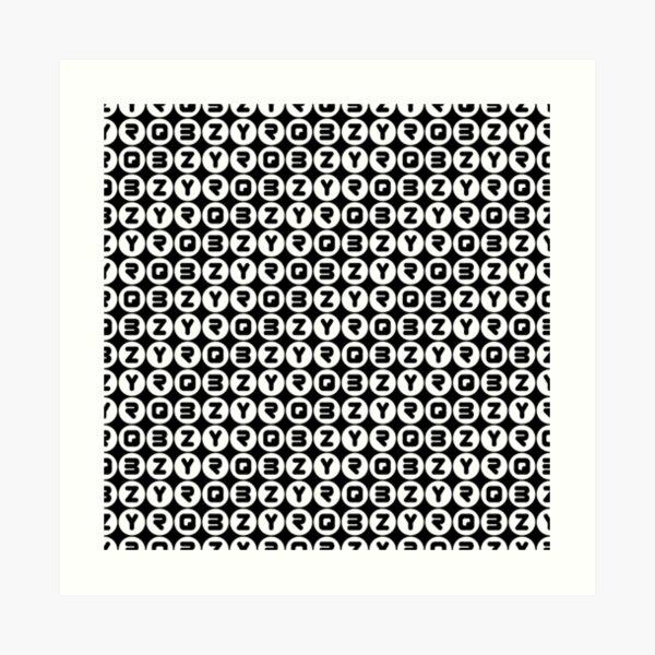 BZYRQ Polka Dot (White On Black) Art Print