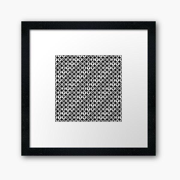 BZYRQ Polka Dot (White On Black) Framed Art Print