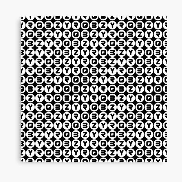 BZYRQ Polka Dot (White On Black) Canvas Print
