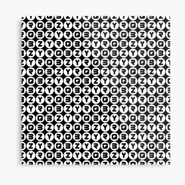 BZYRQ Polka Dot (White On Black) Metal Print