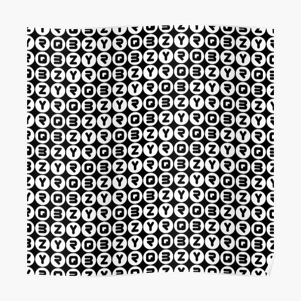 BZYRQ Polka Dot (White On Black) Poster