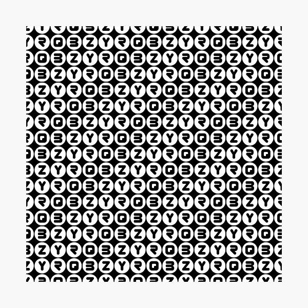 BZYRQ Polka Dot (White On Black) Photographic Print