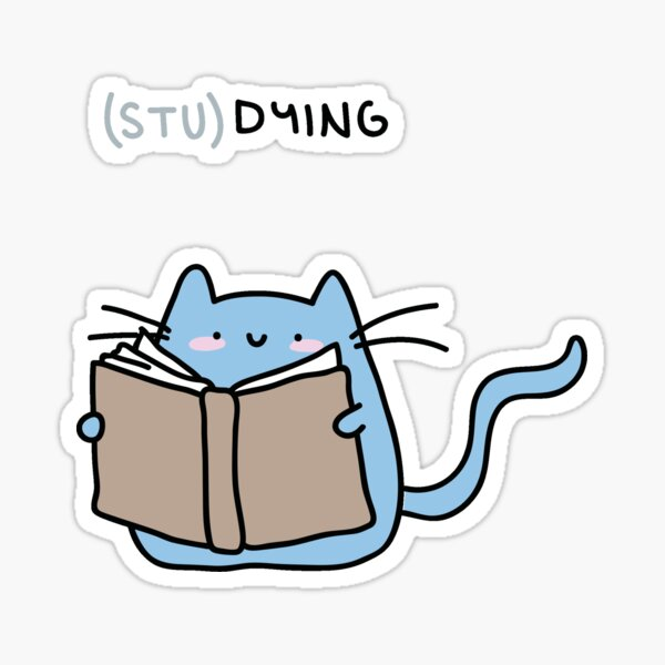 (stu)dying Sticker