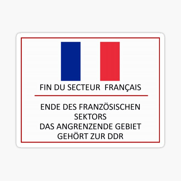 End of French Sector Berlin Sticker