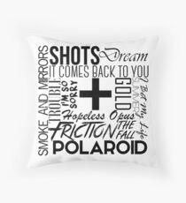 S+M Songs Design Throw Pillow