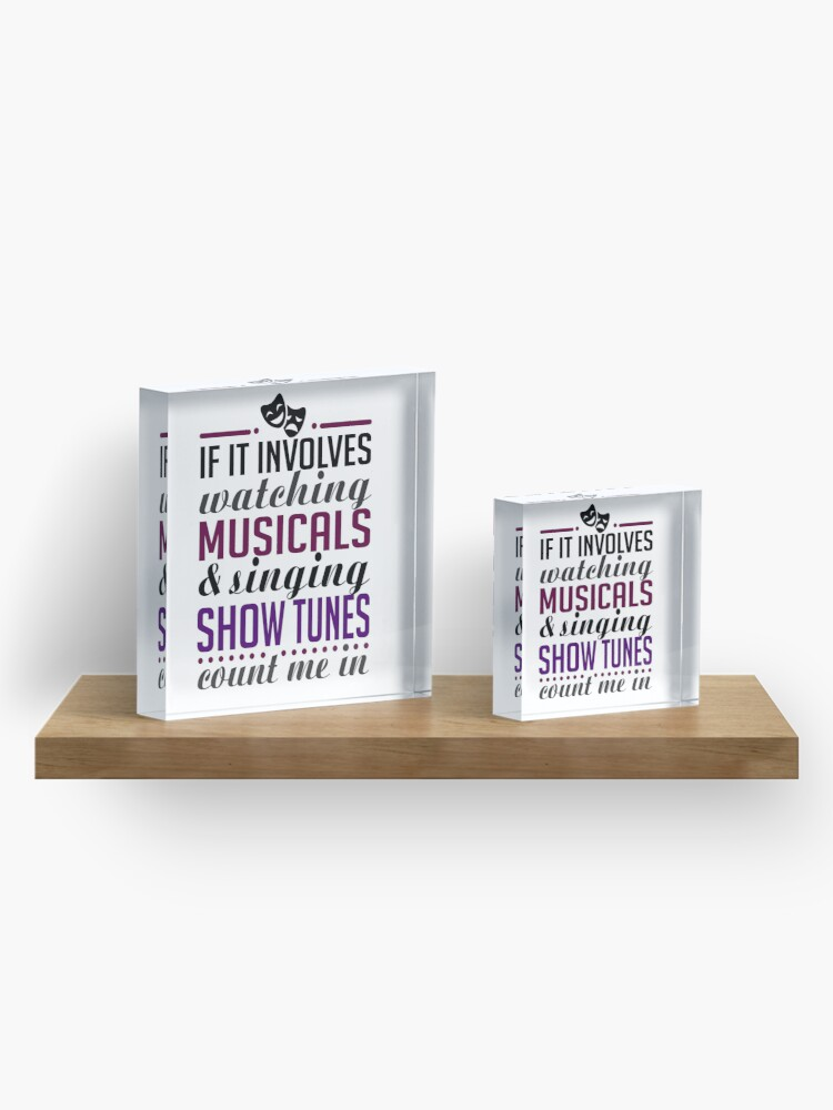 Alternate view of Watch Musicals and Sing Show Tunes Acrylic Block